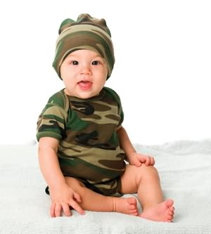 Code V 4403 Infant Camouflage Creeper