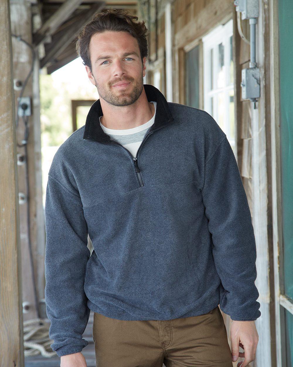 Colorado Clothing 12010 经典磨毛布半拉链毛线套衫