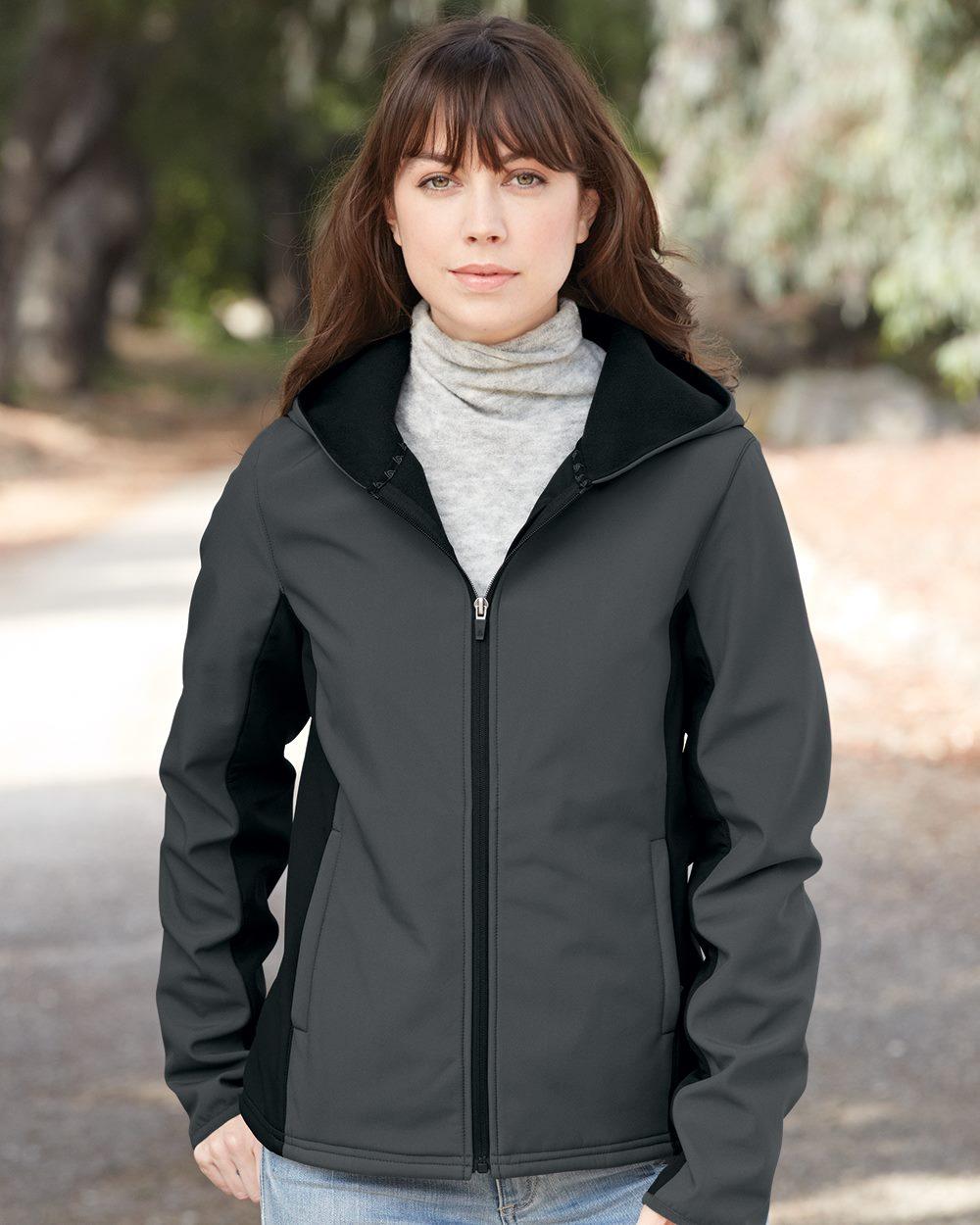 Colorado Clothing 9617 女士连帽软壳外套夹克