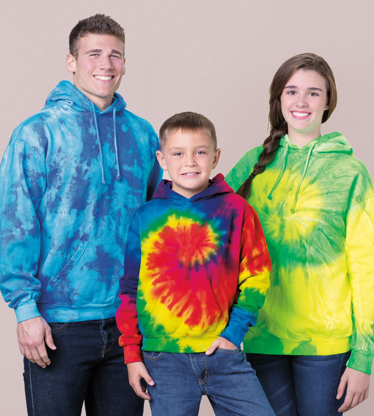 Colortone T8778 - Multi Color Tie Dye Hood