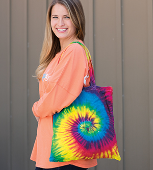 Colortone T9223 - Multi Color Tie Dye Tote Bag