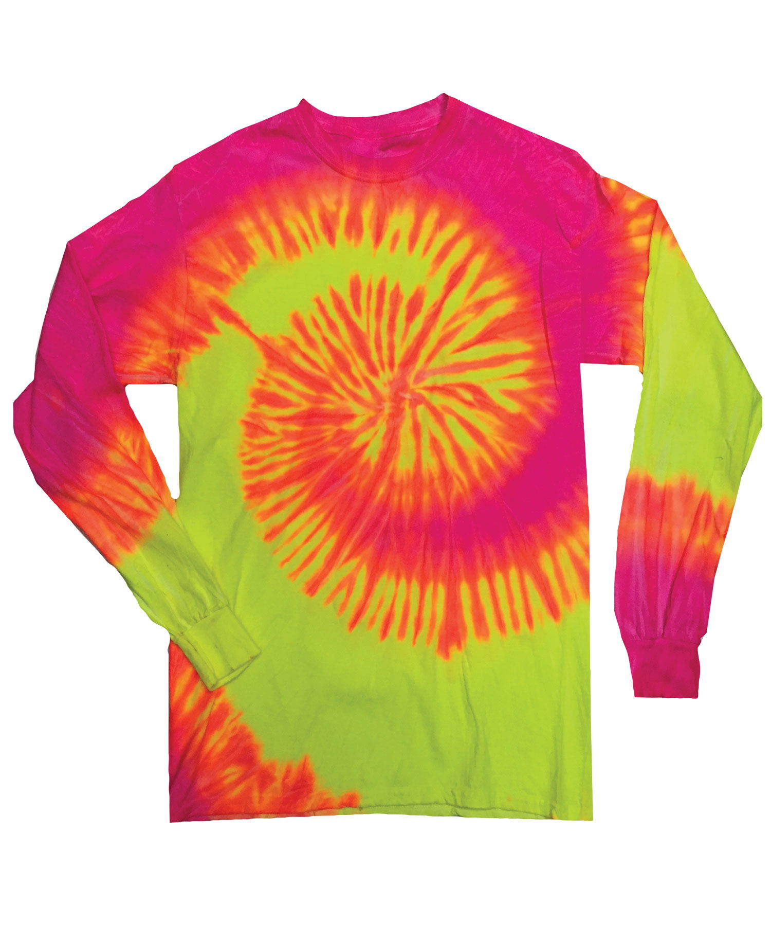 Colortone - T303P Fluorescent Swirl Long Sleeve Tie Dye