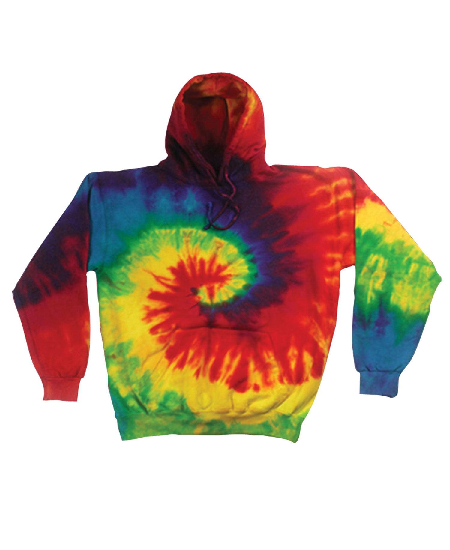 Colortone - T328R Reactive Rainbow Pullover Hood