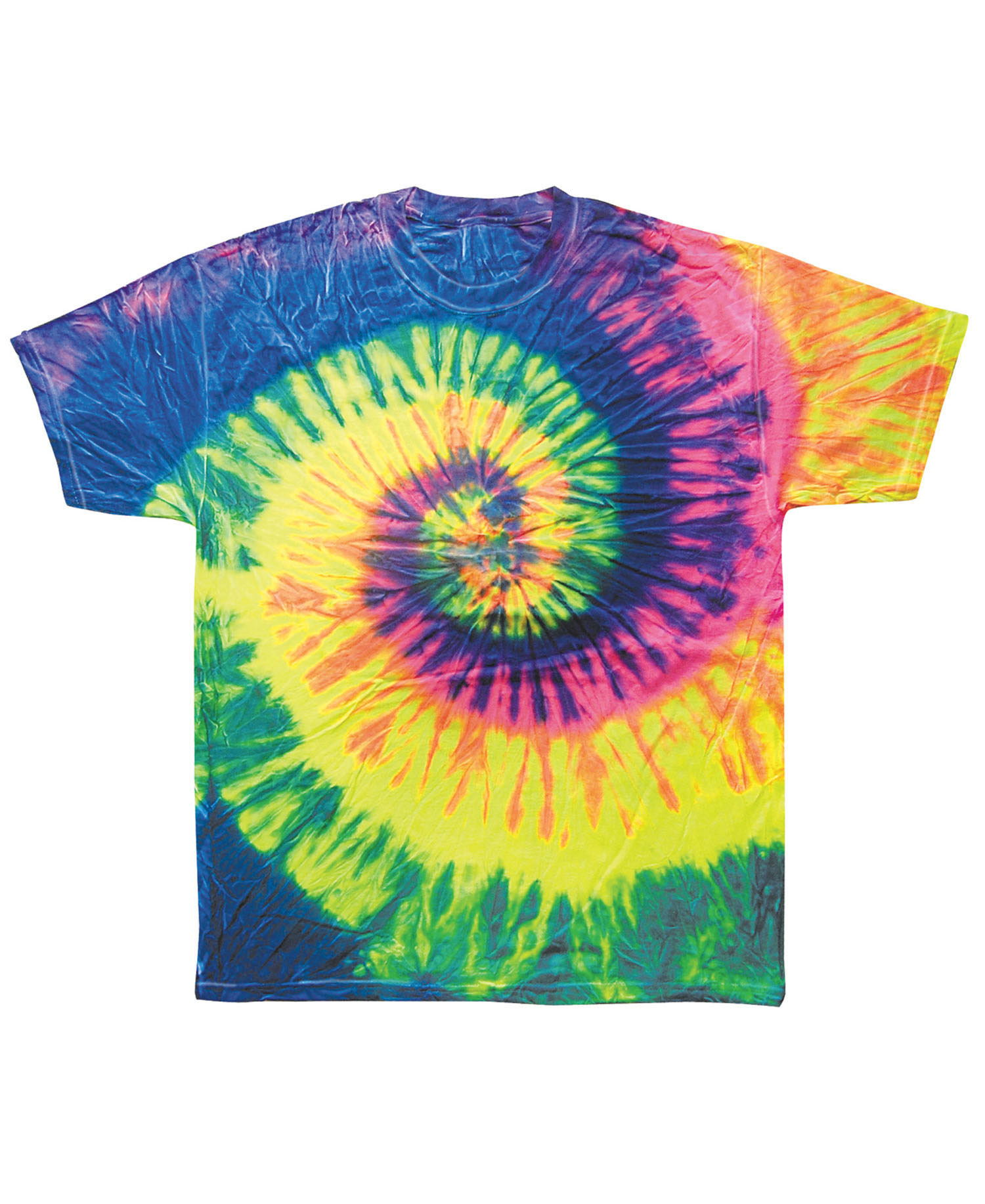 Colortone - T355P Adult Neon Rainbow Tie Dye Tee