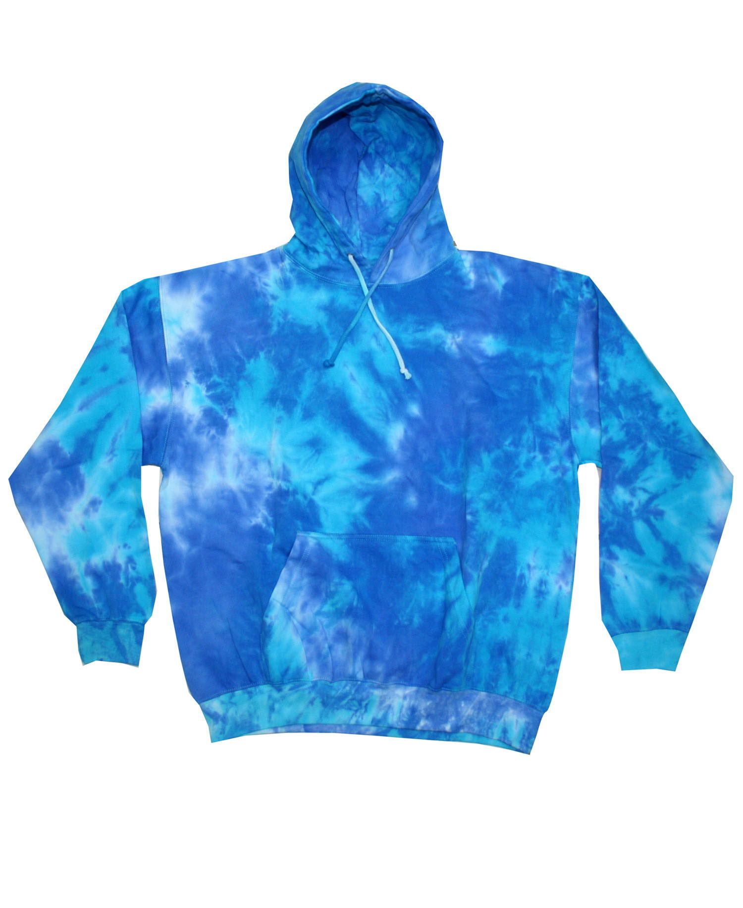 Colortone - T367R Adult Blue Mix Tie Dye Pullover Hoodie