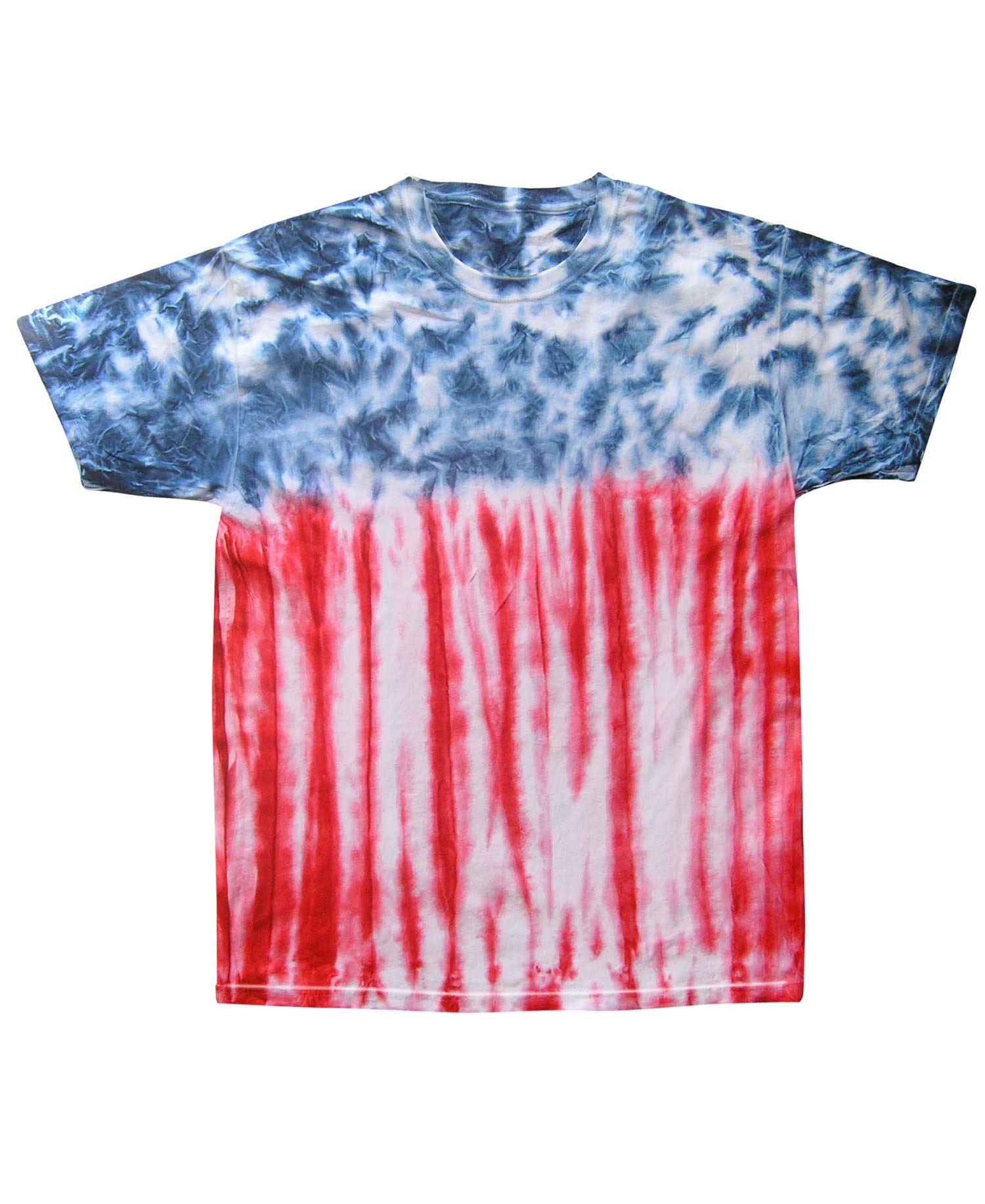 Colortone - T918P Youth Usa Flag Tie Dye Tee