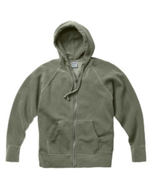 Comfort Colors 1564 Pigment-Dyed Frayed  Full-Zip Hooded Sweatshirt