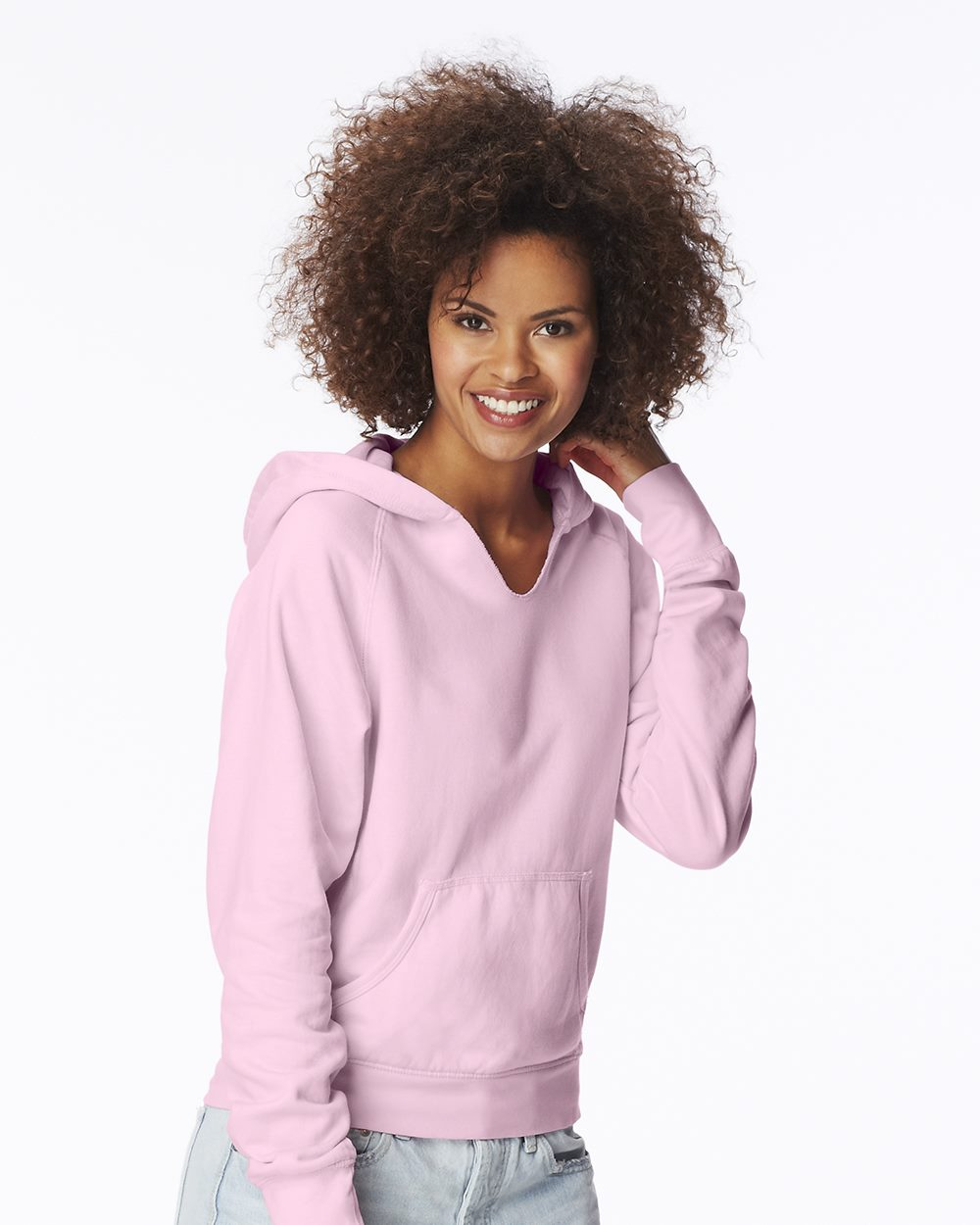 Comfort Colors 1595 Pigment-Dyed Ladies' Frayed Hooded ...