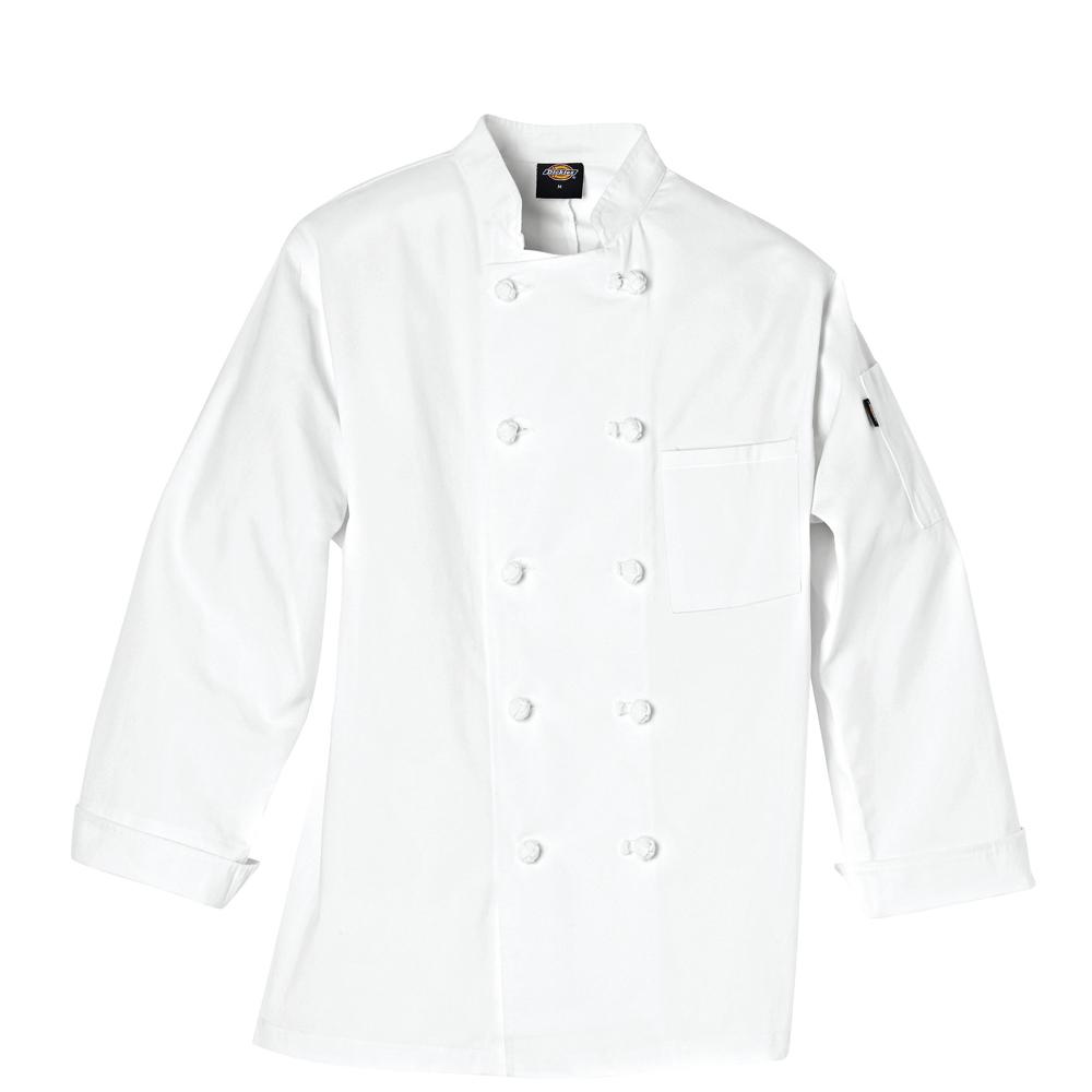 Dickies Drop Ship - DC121 Long-Sleeve Knot Button Chef Coat