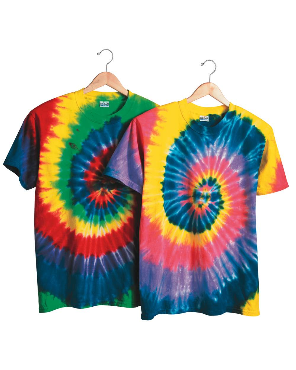 Dyenomite 200MS Multi-Color Spiral Short Sleeve T-Shirt
