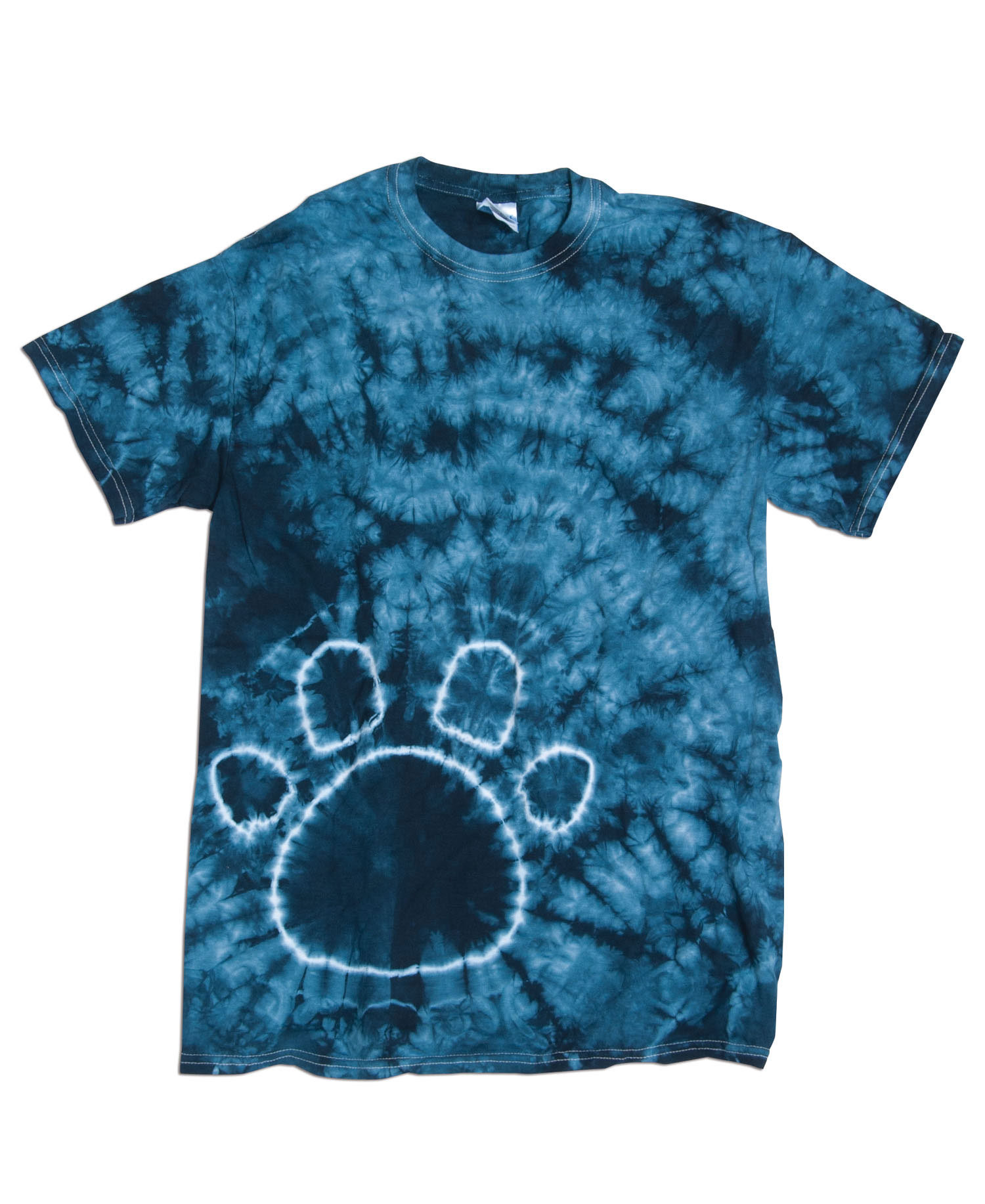 Dyenomite - D20BPR Yth Paw Print Tie Dye
