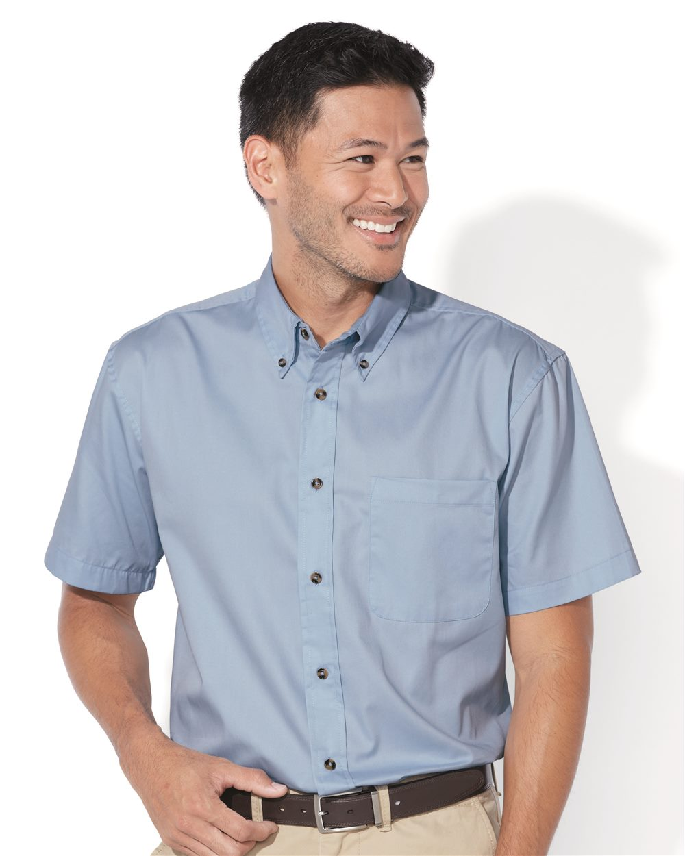 FeatherLite 0281 Short Sleeve Stain Resistant Twill Shirt
