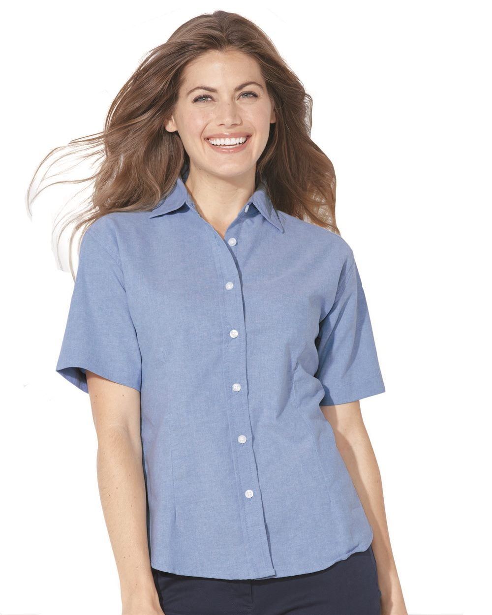 FeatherLite 5231 Ladies' Short Sleeve Oxford Shirt