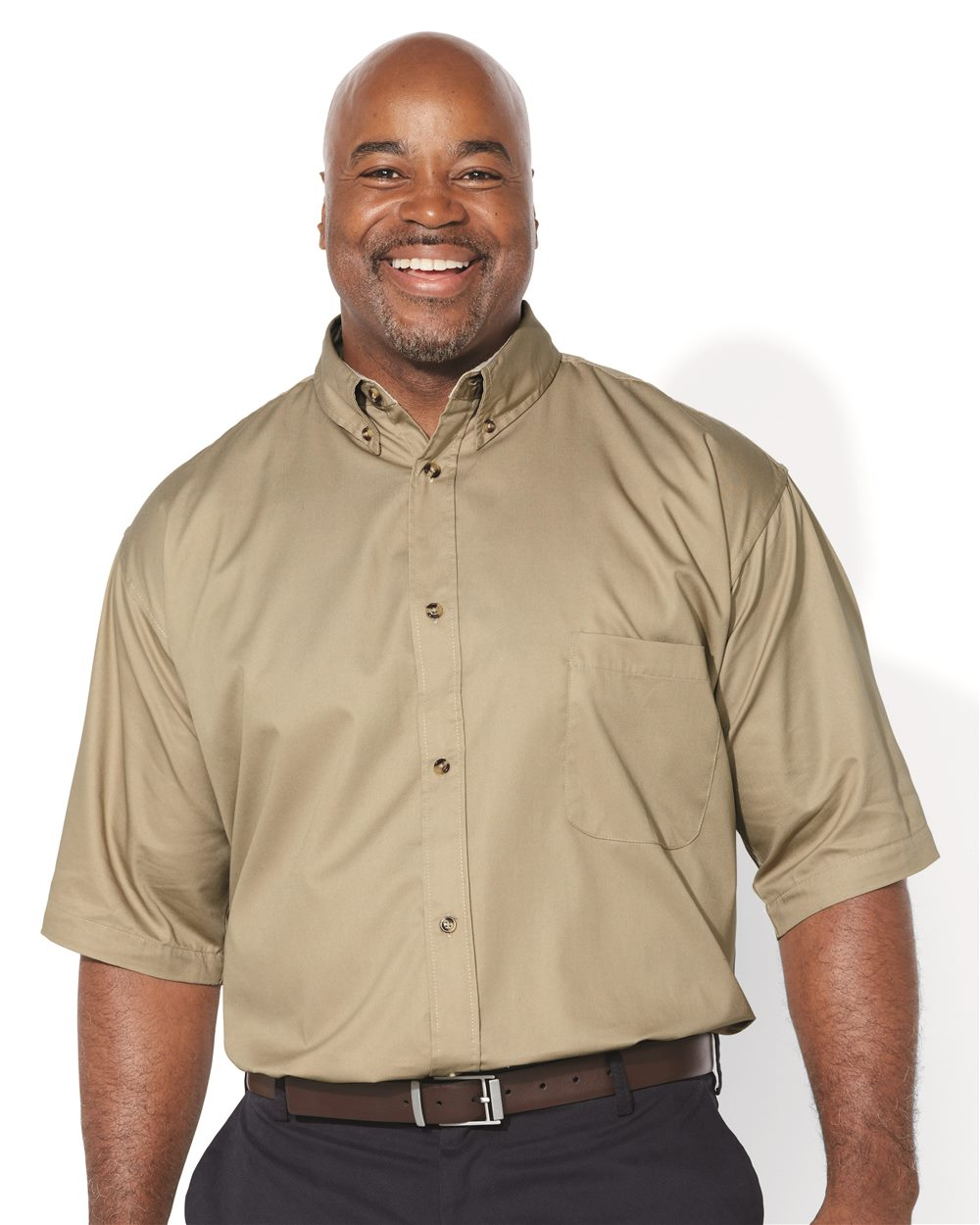 FeatherLite 6281 Short Sleeve Twill Tall Sizes