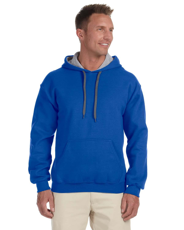 Gildan 185C00 - Heavy Blend Hooded Sweatshirt with Contrast-color Lining