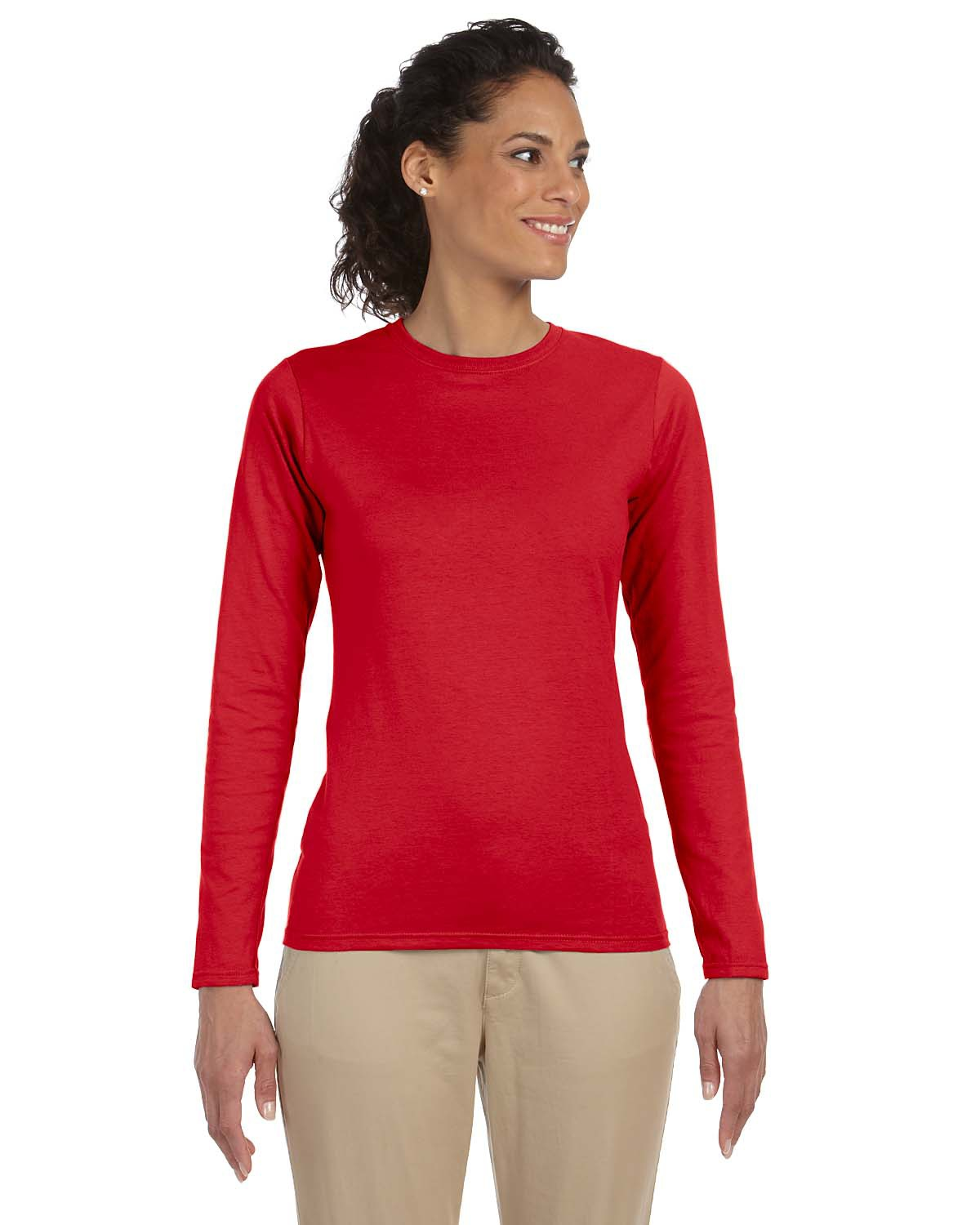 Gildan 64400L-Junior Fit Softstyle Long Sleeve T-Shirt