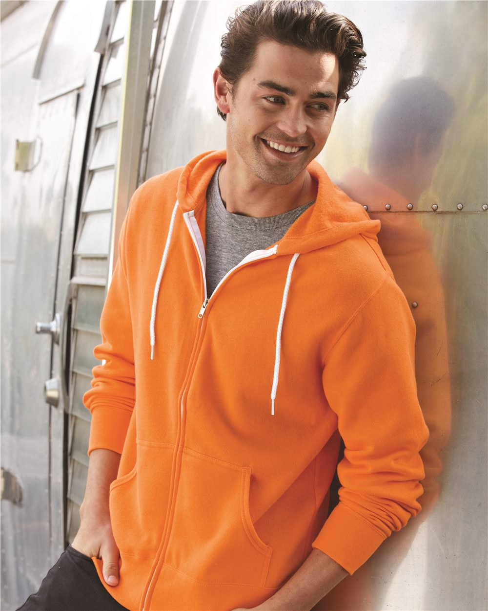 Independent Trading Co. AFX90UNZ Unisex Full-Zip Hooded Sweatshirt