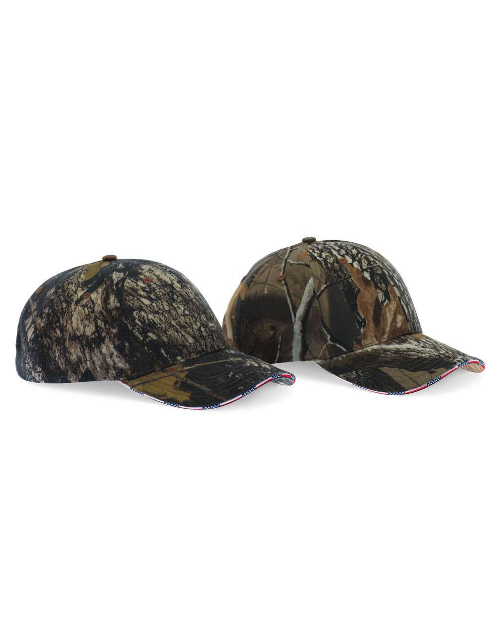 KATI LC924 Camouflage Cap with American Flag Sandwich ...