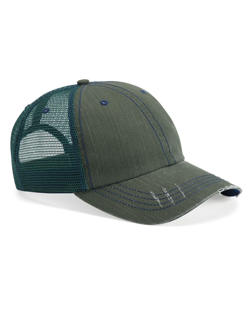 Mega Cap 6990 - Herringbone Unstructured Trucker Cap