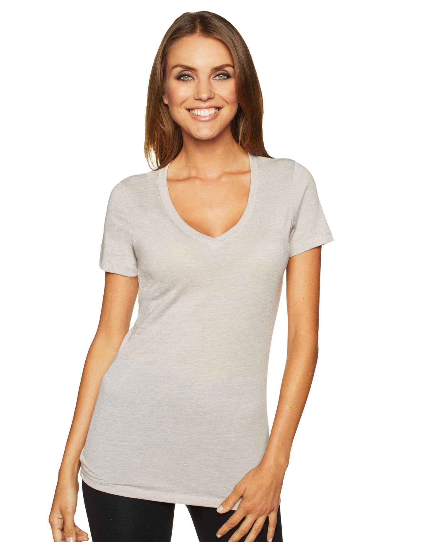 Next Level - Nl6044 V Neck Poly/Cotton Tee