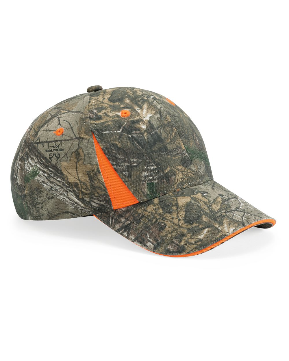 Outdoor Cap CBI305 - Camo Cap With Hi Vis Trim