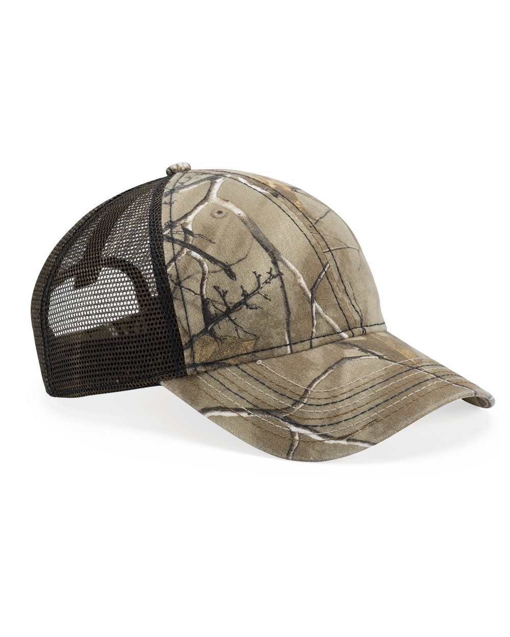 Outdoor Cap CWF310 - Mesh Back Camo Cap With Flag Undervisor