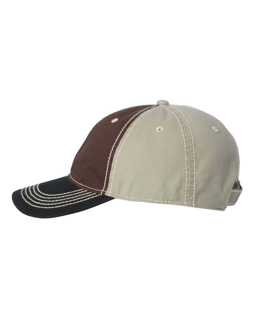 Outdoor Cap TPS300 - Washed Chino Cap with Contrast Stitching