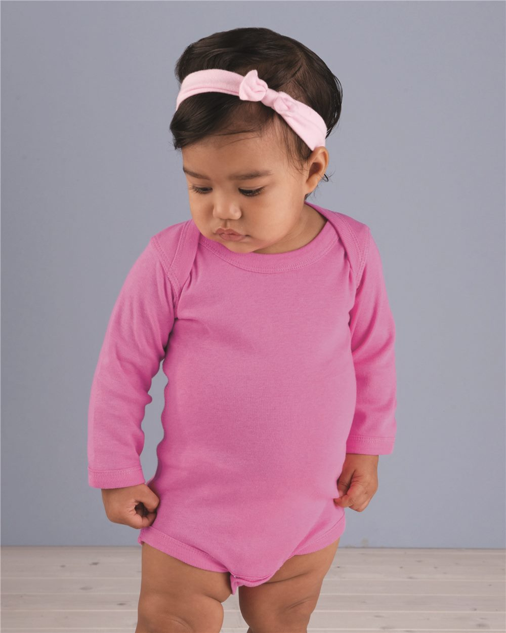 Rabbit Skins 4411 Infant Long Sleeve Lap Shoulder Creeper