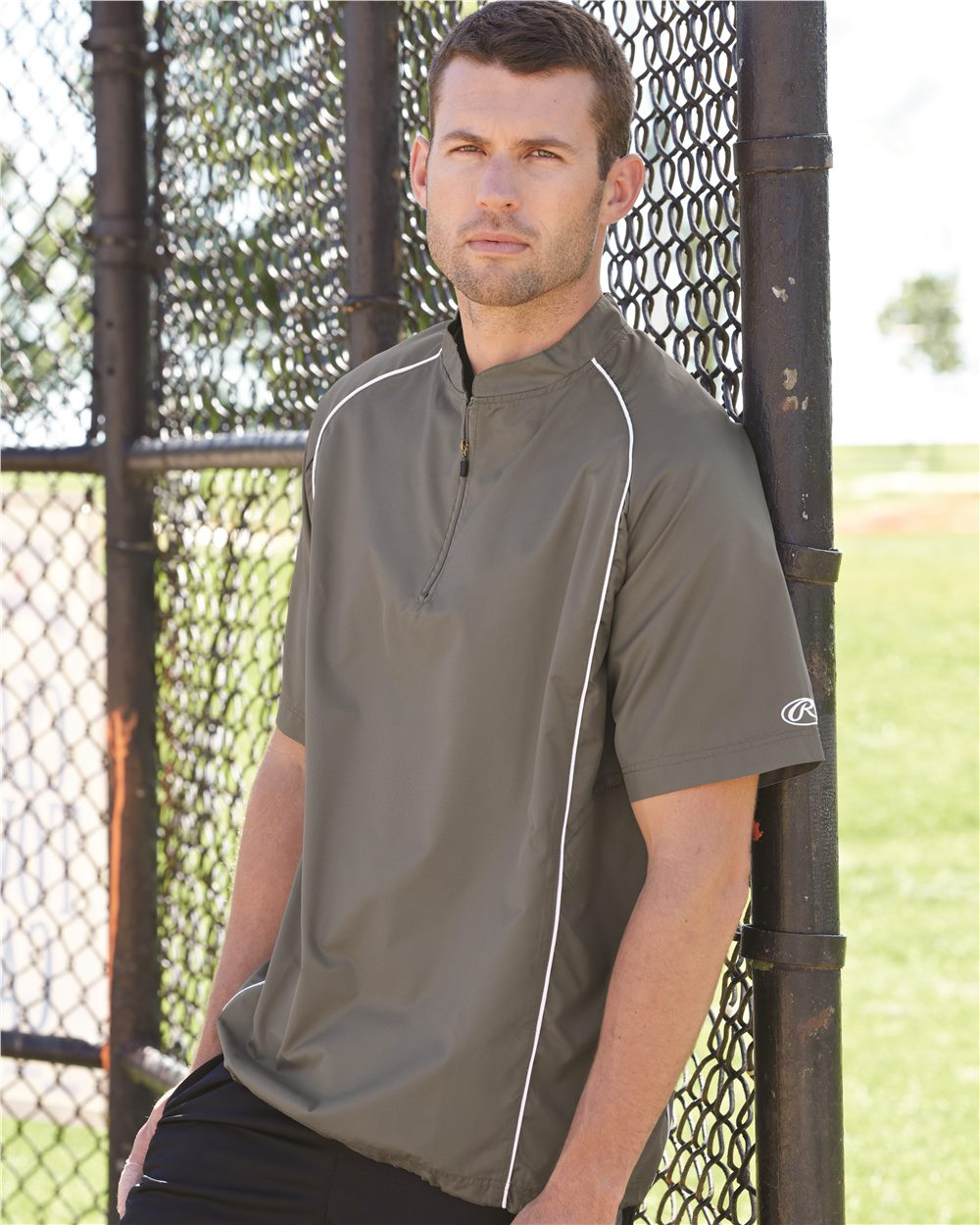 Rawlings 9702-Short Sleeve Quarter-Zip Pullover