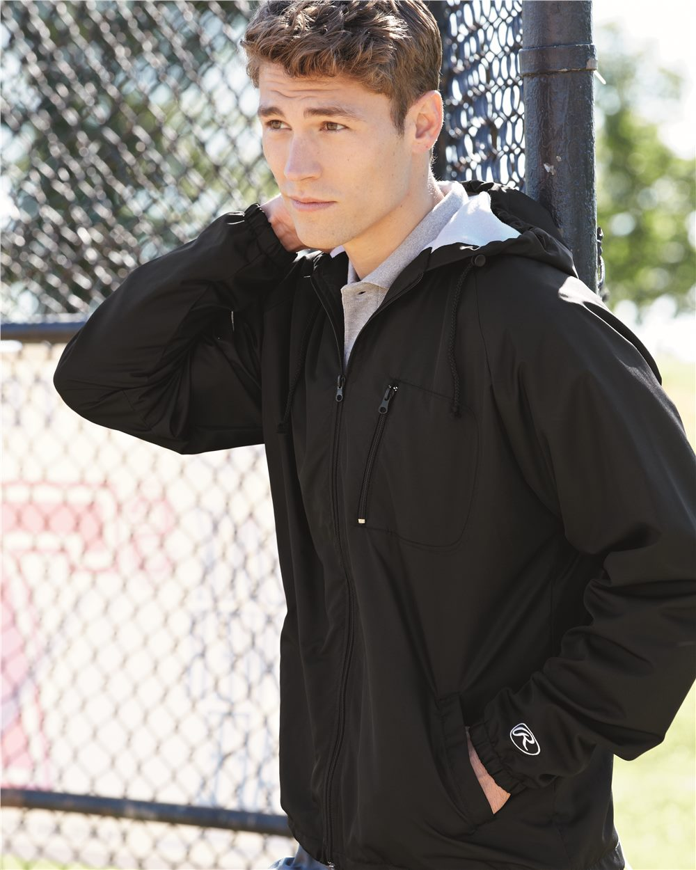 Rawlings 9728 - Hooded Full Zip Wind Jacket