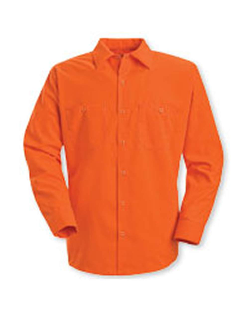 Red Kap Industrial SS14 Enhanced Visibility Long Sleeve Work Shirt