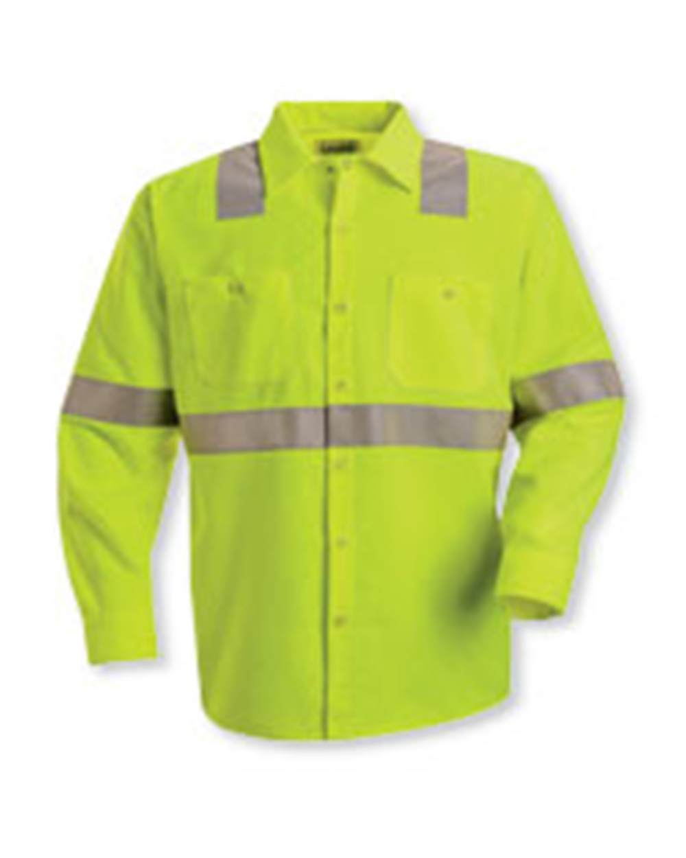 Red Kap Industrial SS14HV High Visibility Safety Long Sleeve Work Shirt