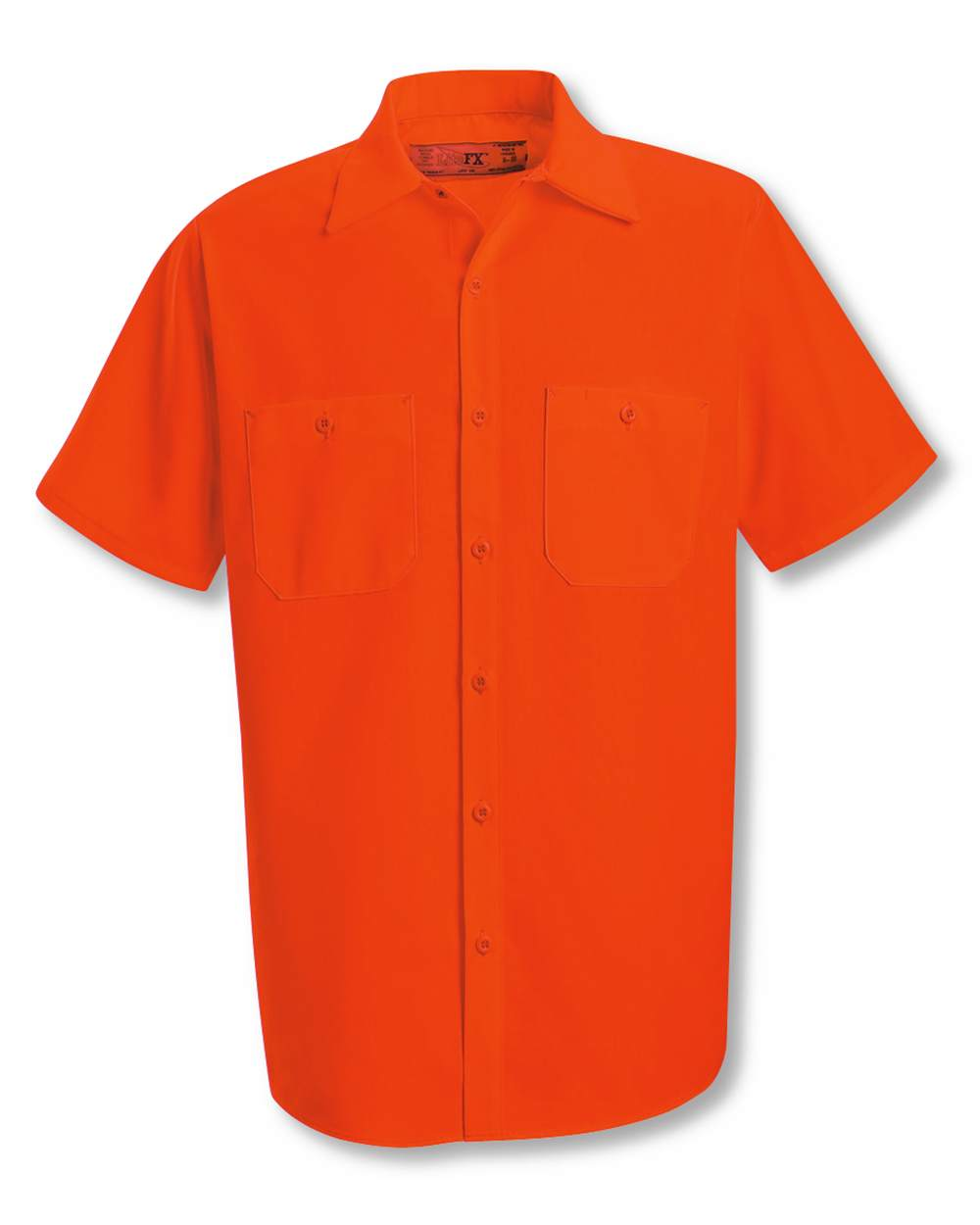Red Kap Industrial SS24 Enhanced Visibility Short Sleeve Work Shirt
