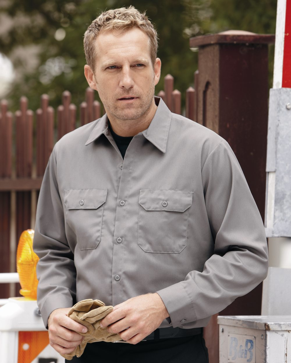 Red Kap Industrial ST52 Utility Long Sleeve Work Shirt