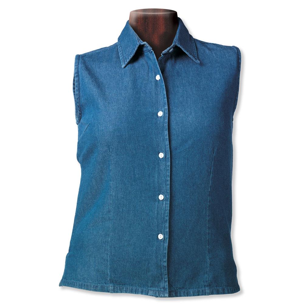 Sierra Pacific 5205 女士无袖粗斜纹布牛仔布