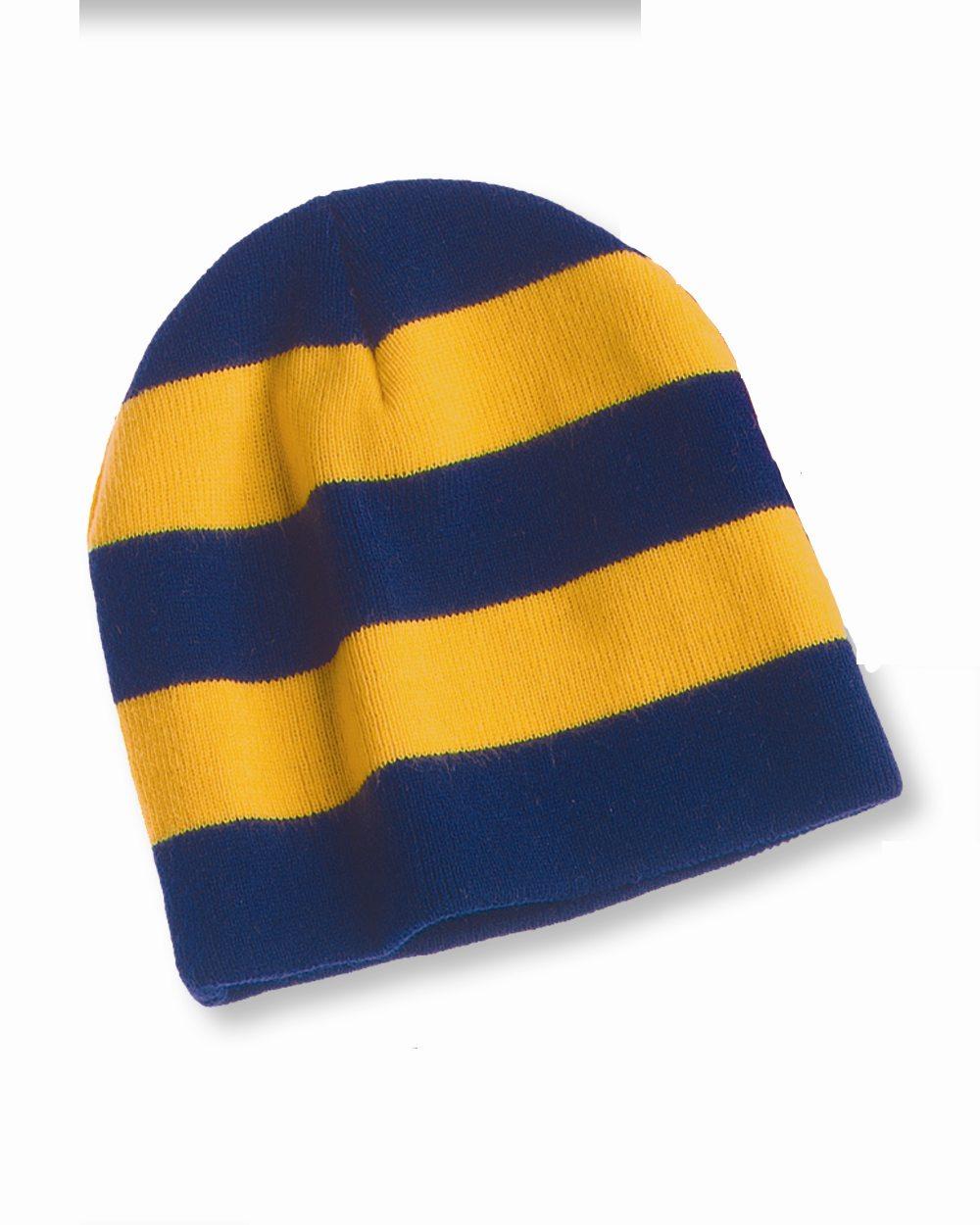Sportsman Cap SP01 Rugby Striped Knit Beanie