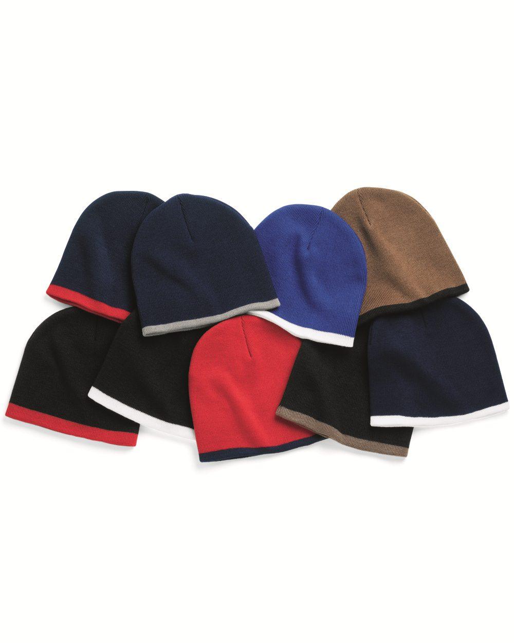 Sportsman SP09-8 Bottom Stripe Knit Cap