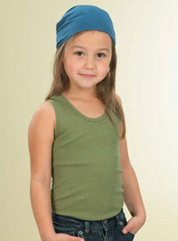 L.A.T Sportswear 2566 Girls' 2x1 Rib Tank Top