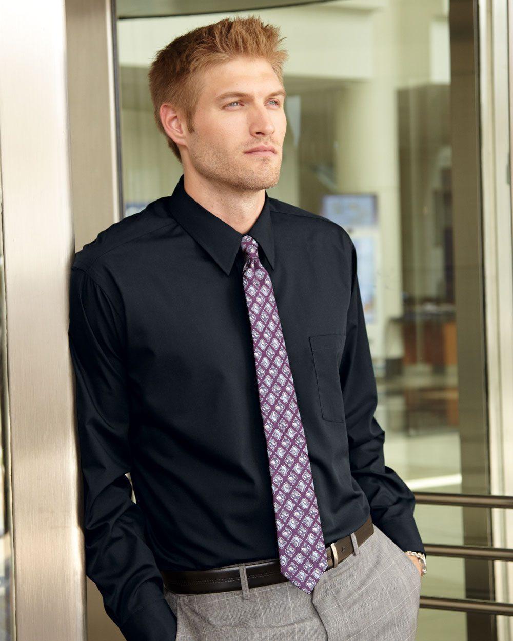Van Heusen Broadcloth Long Sleeve Shirt - 13V0214