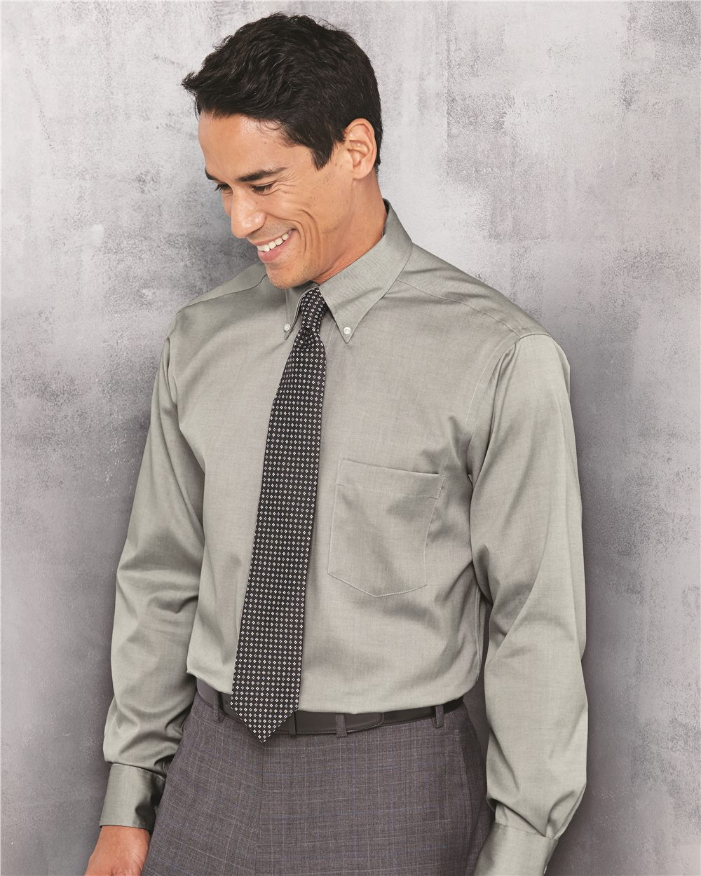 Van Heusen 13V0143  Men's True Wrinkle-Free Cotton Pinpoint ...