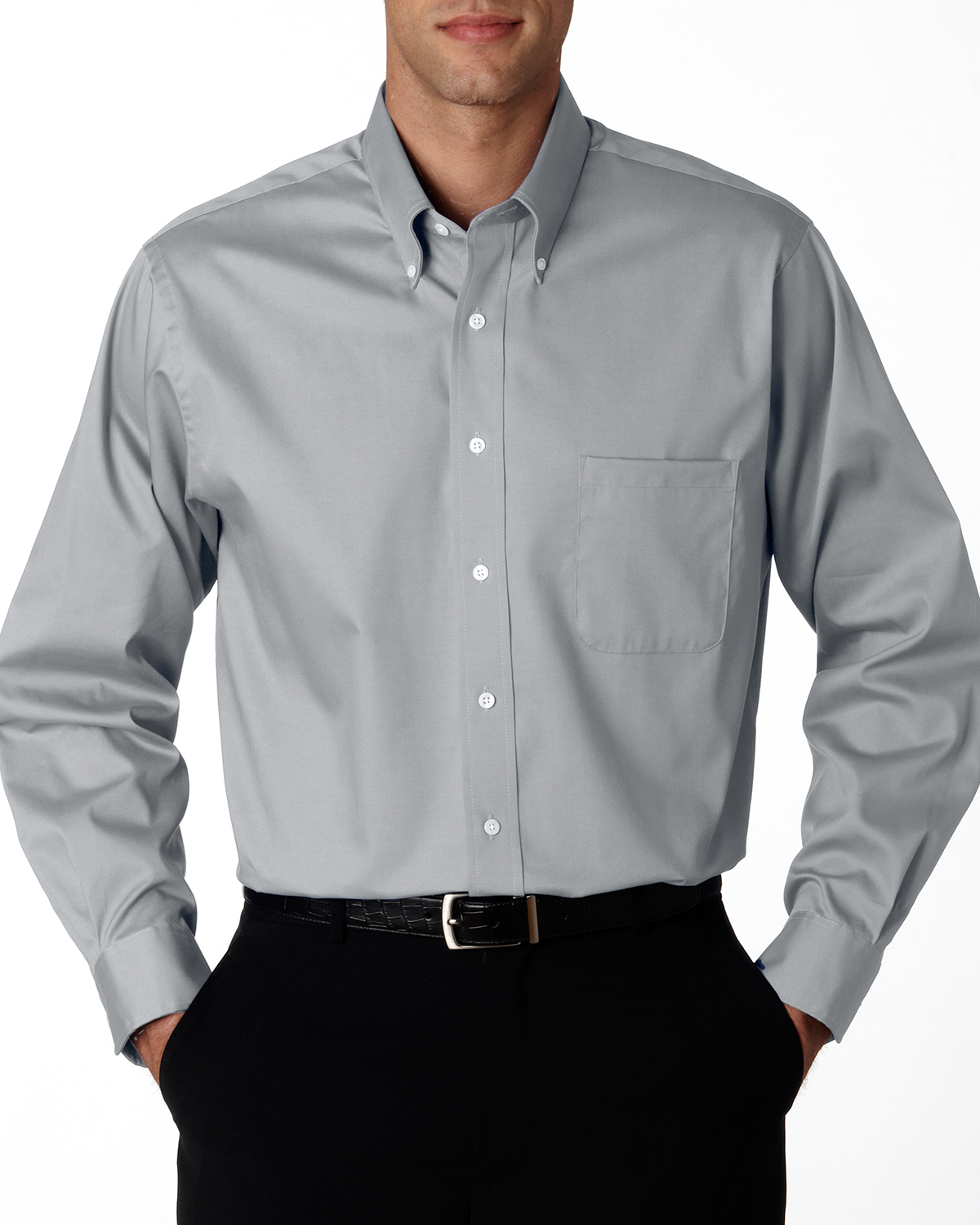 Van Heusen 56900  Men's Wrinkle-Resistant Blended Pinpoint ...
