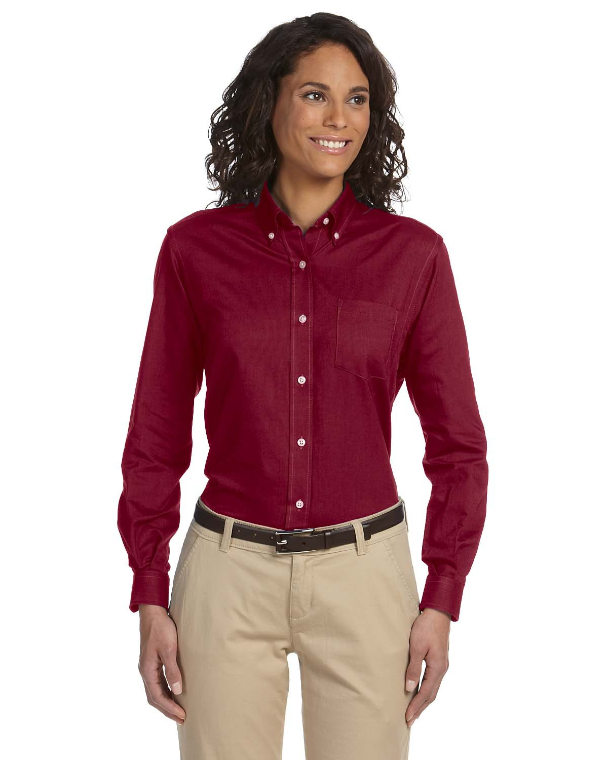 Van Heusen 59800  Women's Long-Sleeve Wrinkle-Resistant Oxford