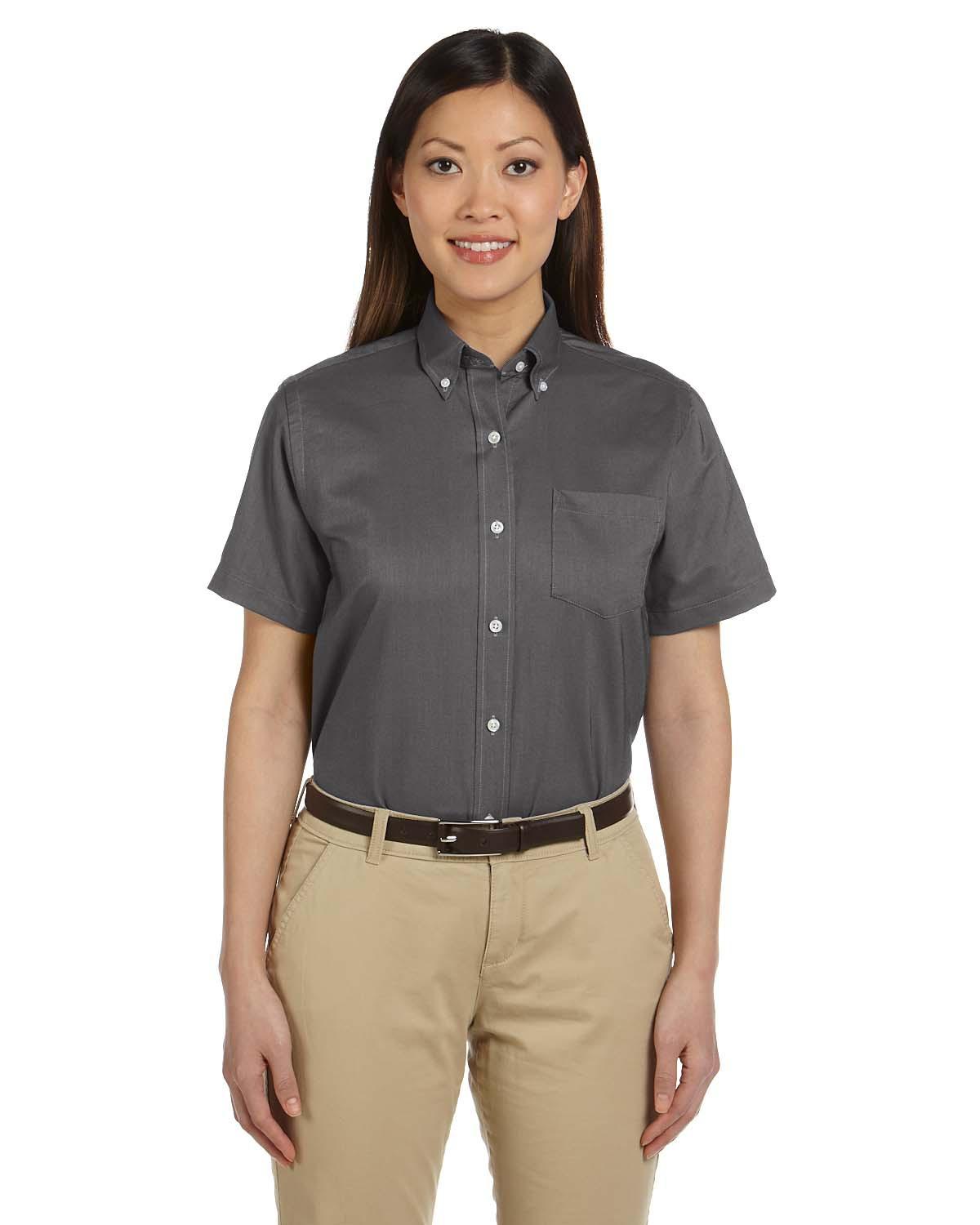 Van Heusen 59850  Women's Short-Sleeve Wrinkle-Resistant Oxford