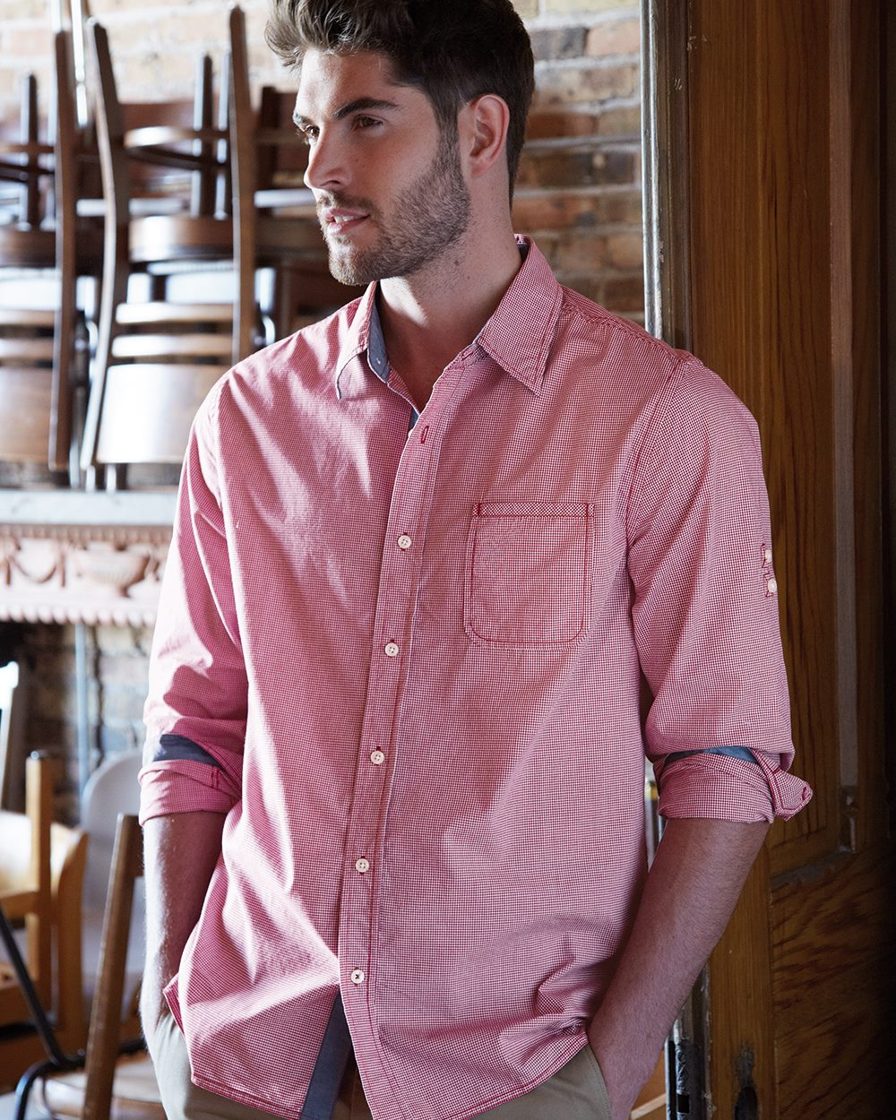 Weatherproof 154670 - Vintage Mini Check Long Sleeve Shirt