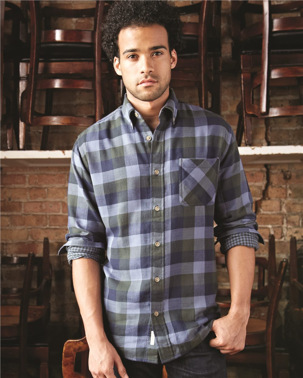 Weatherproof 164761 - Vintage Brushed Flannel Long Sleeve ...