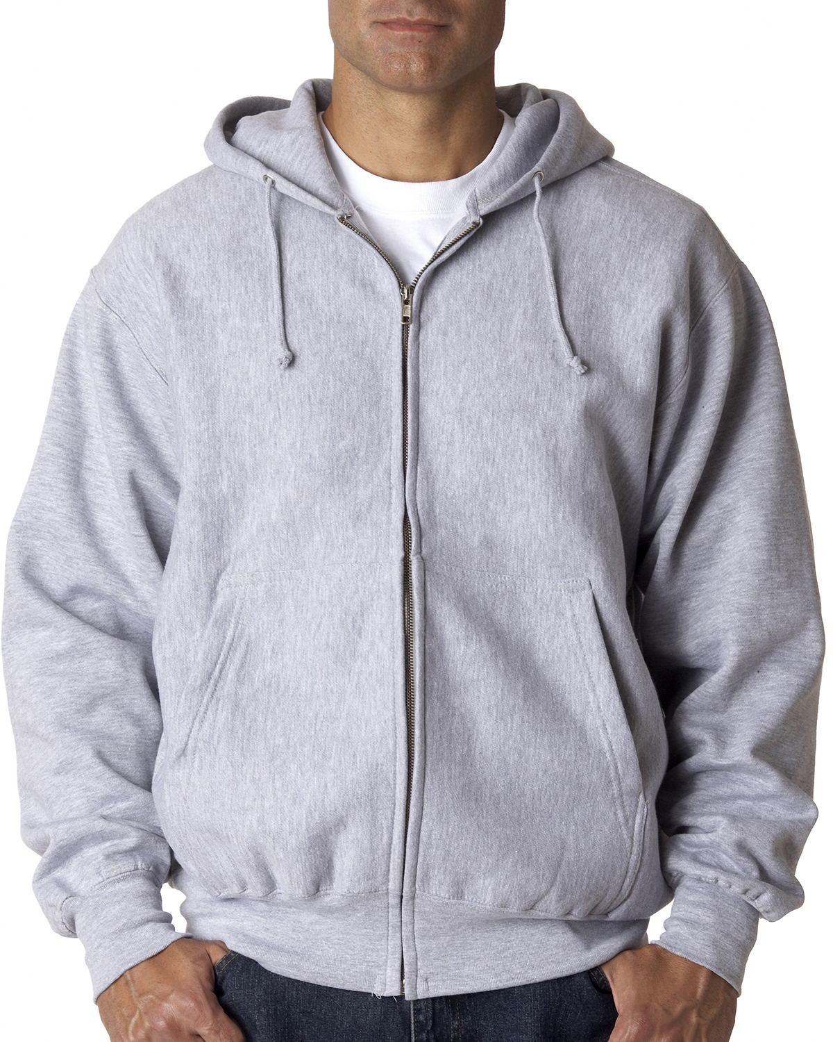 Weatherproof 7711 Cross Weave Full-Zip Hooded Sweatshirt