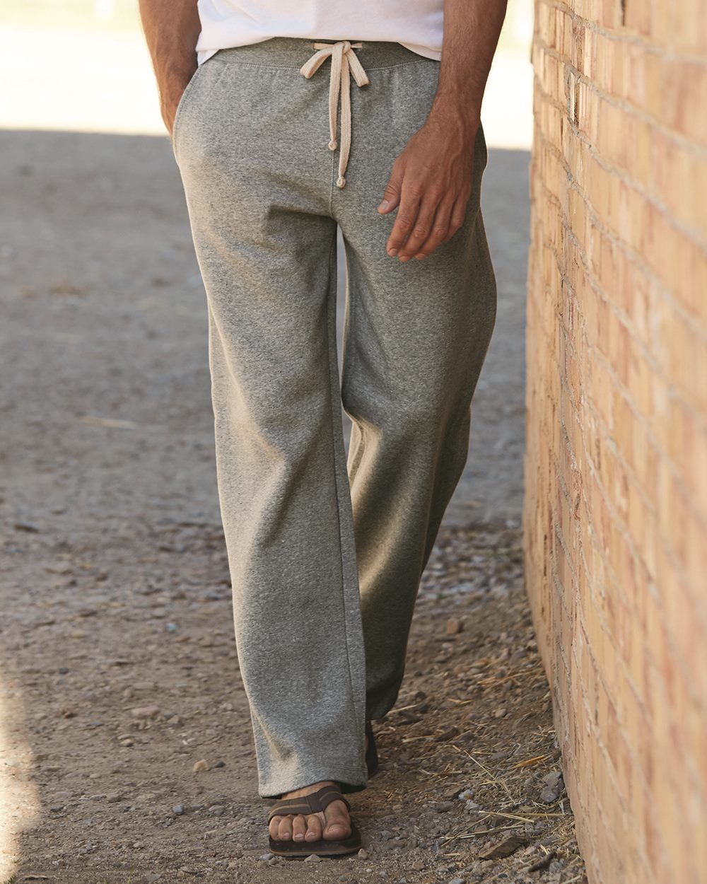 Weatherproof 7766 Cross Weave Open Bottom Sweatpant