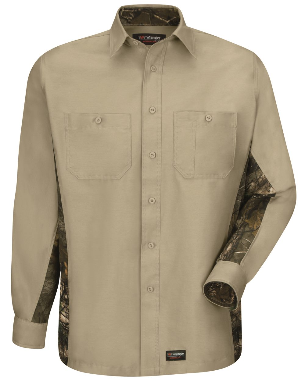Wrangler WS30 - Workwear Long Sleeve Camo Shirt
