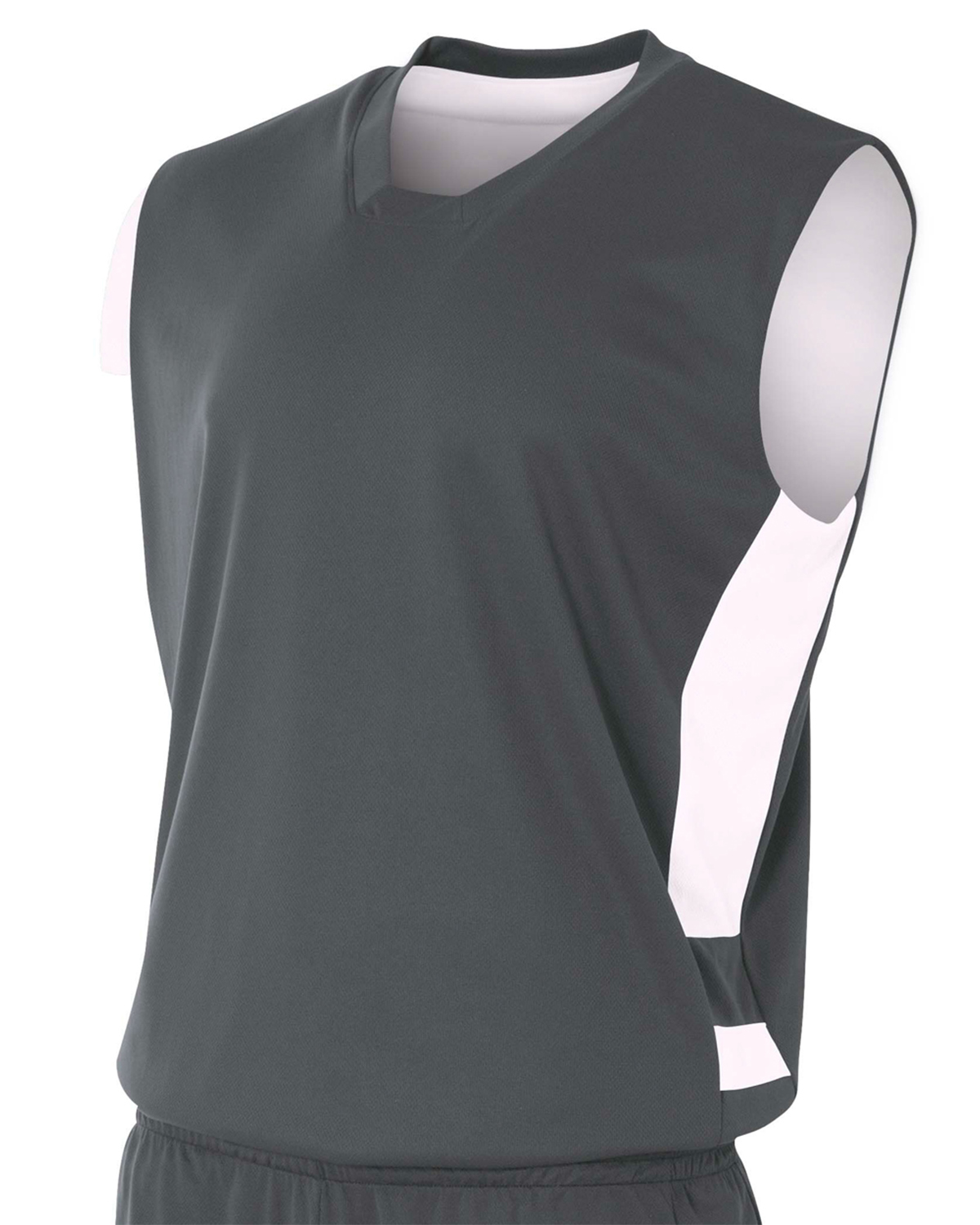 A4 Drop Ship N2349 - Adult Reversible Speedway Muscle Shirt