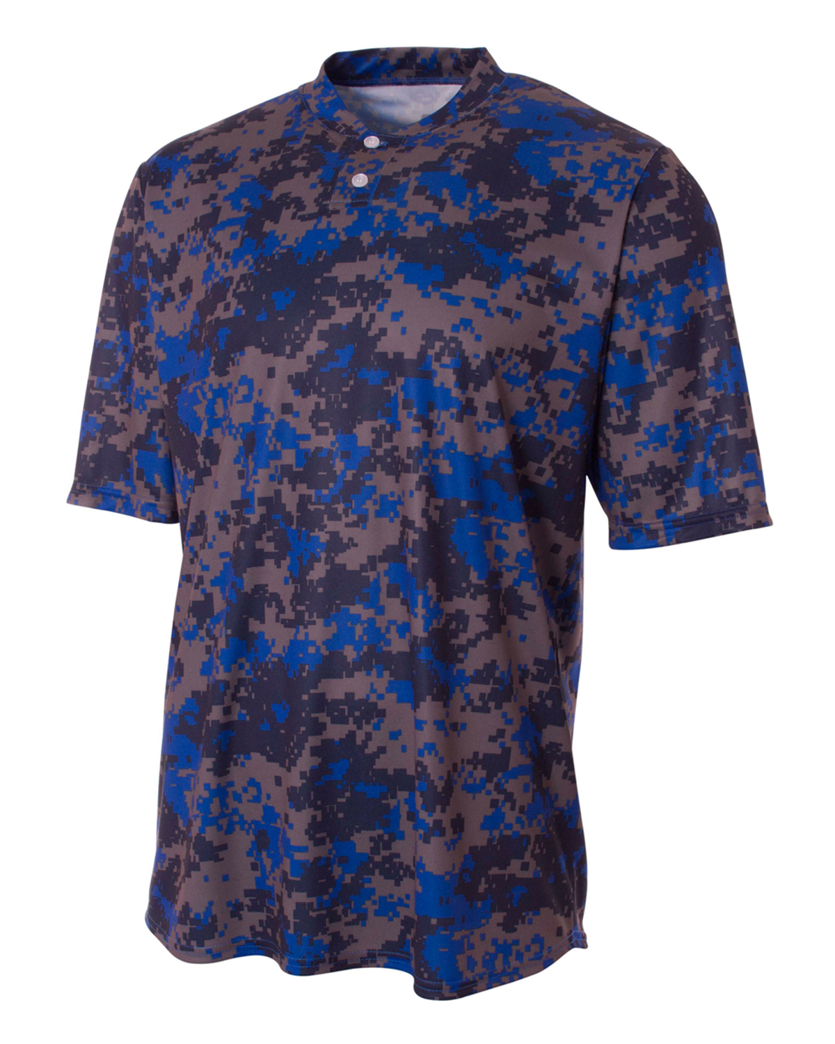 A4 Drop Ship N3263 - Camo 2-Button Henley Shirt